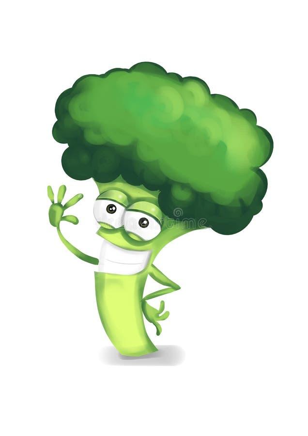 Gelukkige broccoli vector illustratie