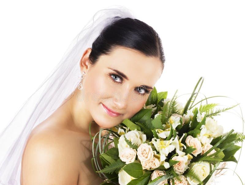 Gelukkige bruid stock fotografie