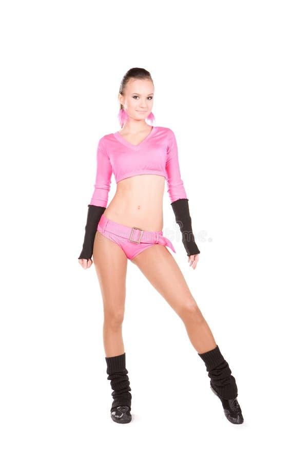 Gelukkige cheerleader royalty-vrije stock foto