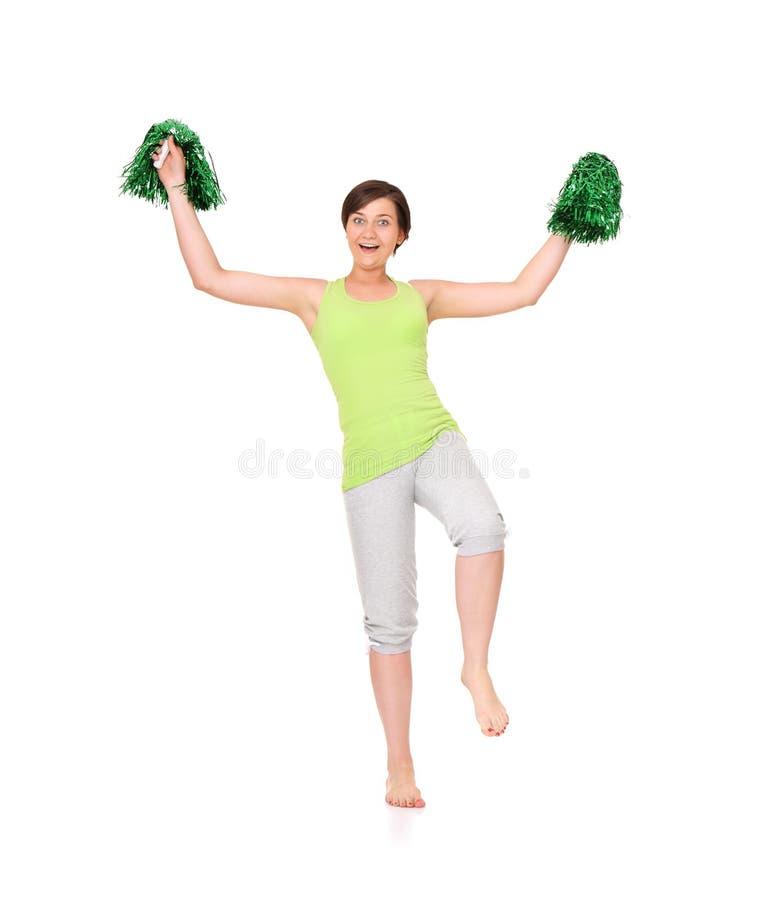 Gelukkige cheerleader royalty-vrije stock fotografie