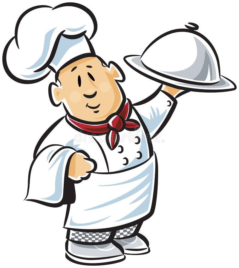 Gelukkige chef-kok vector illustratie