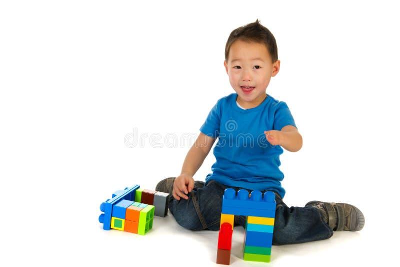 Gelukkige Chinese jongen stock afbeeldingen