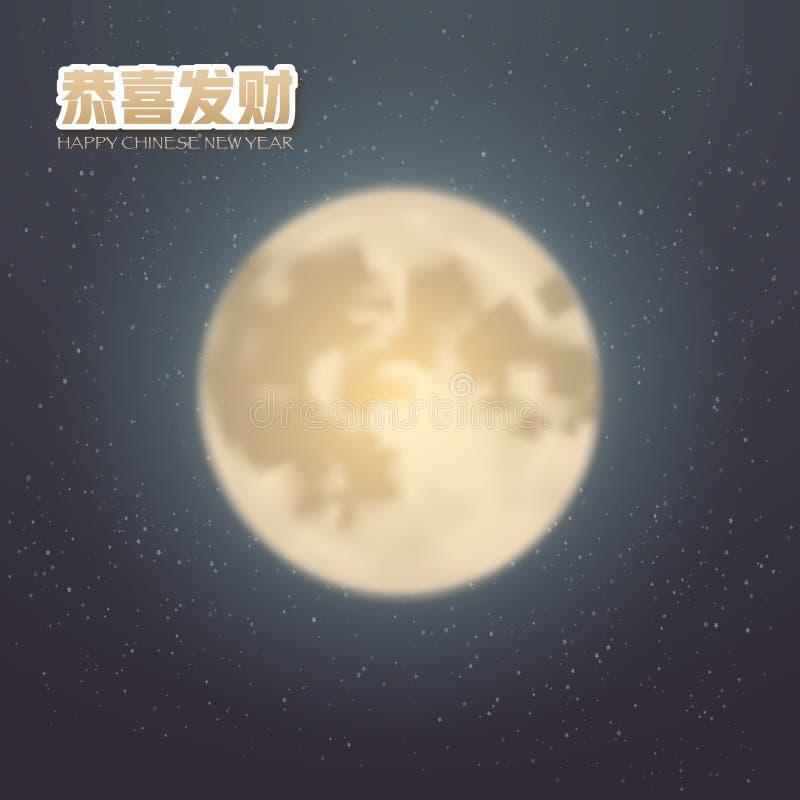 Gelukkige Chinese Nieuwjaar Vectoraffiche stock illustratie
