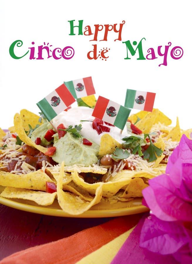 Gelukkige Cinco de Mayo-partijlijst royalty-vrije stock afbeeldingen