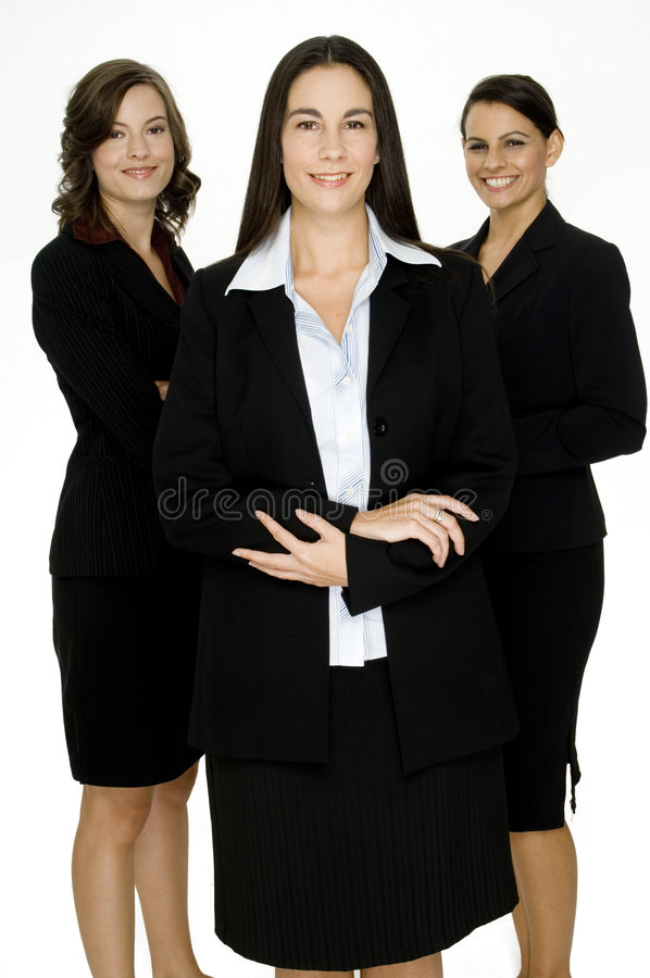 Gelukkige Commerciële Groep royalty-vrije stock foto