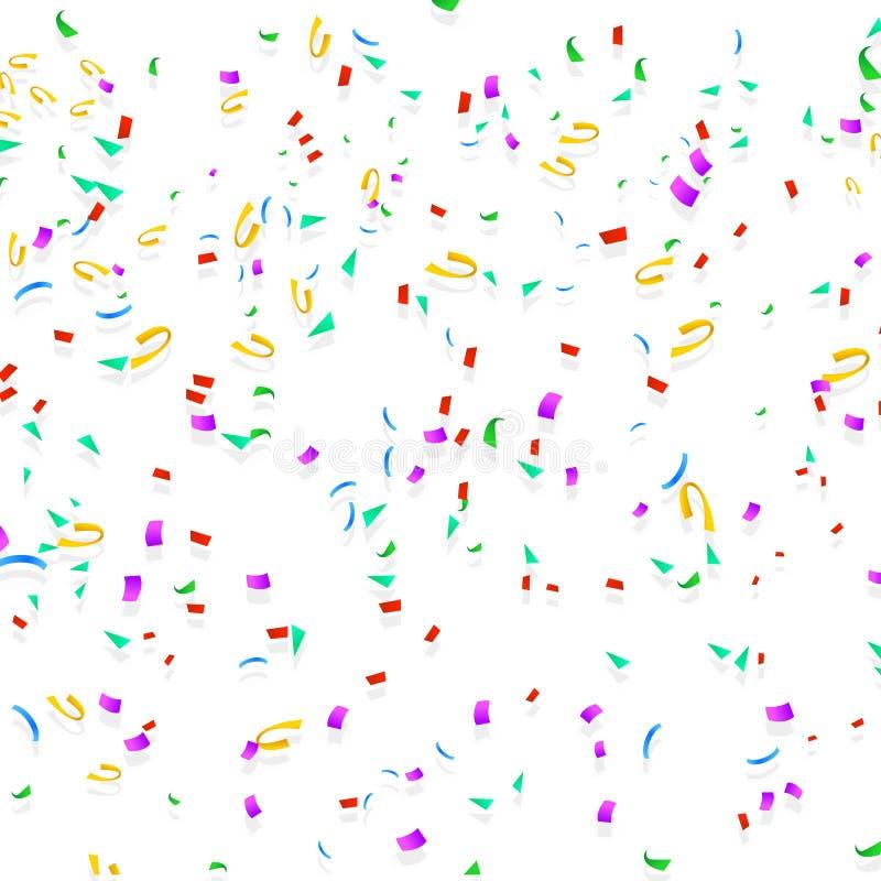 Gelukkige confettien 07 stock illustratie
