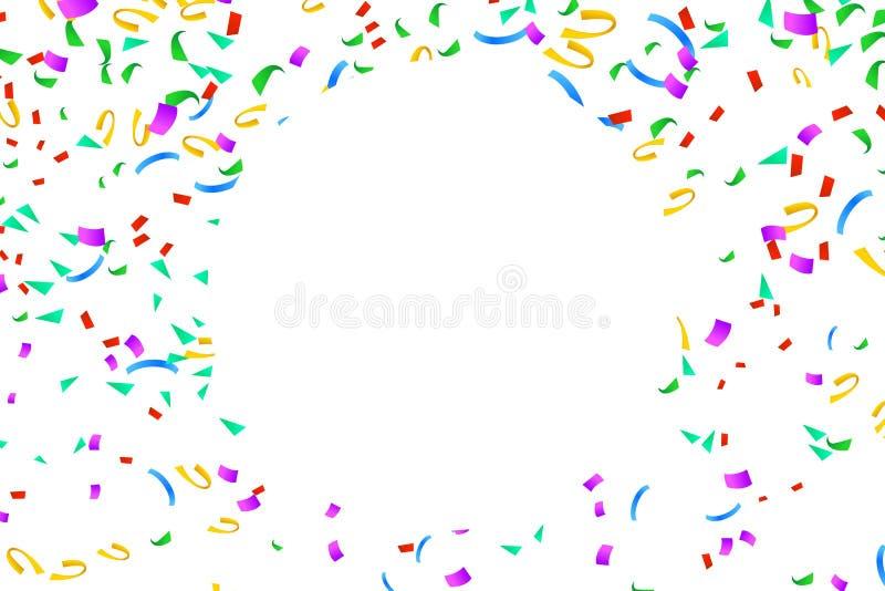 Gelukkige confettiencirkel vector illustratie