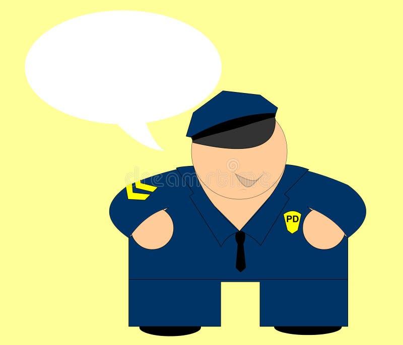 Gelukkige Cop - De Kaart Van Het Bericht Royalty-vrije Stock Afbeeldingen
