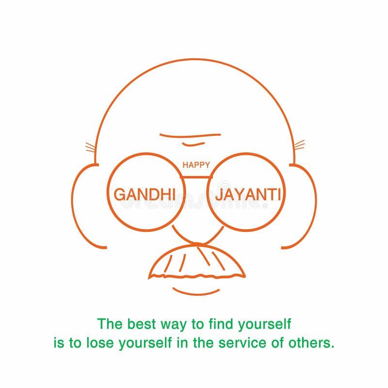 Gelukkige creatieve de banner vectorillustratie van gandhijayanti royalty-vrije illustratie