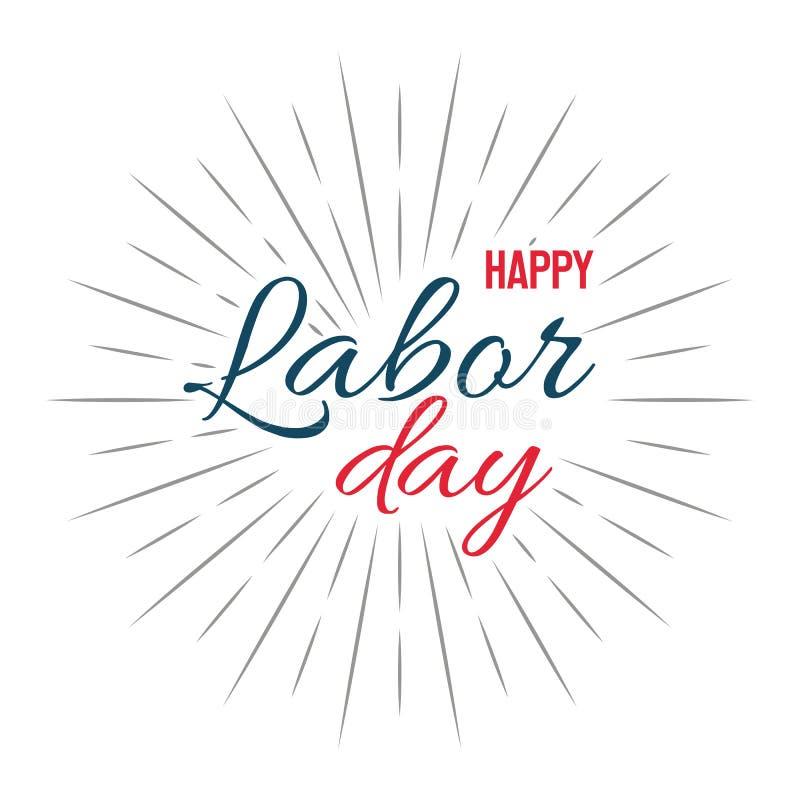 Gelukkige Dag van de Arbeid! vectorillustratie op witte achtergrond royalty-vrije stock fotografie
