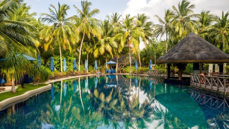 Gelukkige dagen in Maledivisch royalty-vrije stock foto's