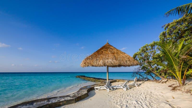 Gelukkige dagen in Maledivisch royalty-vrije stock foto