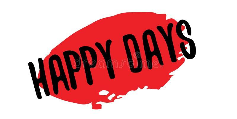 Gelukkige Dagen rubberzegel vector illustratie