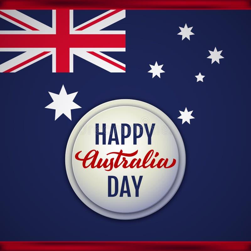 Gelukkige de Dag vectorillustratie van Australië stock illustratie