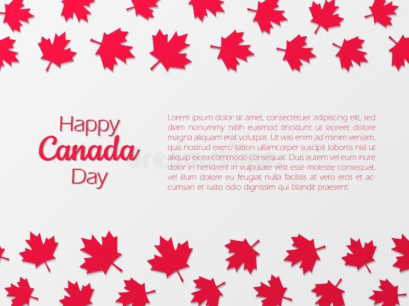 Gelukkige de Dagachtergrond van Canada met document de bladeren van de besnoeiingsesdoorn stock illustratie