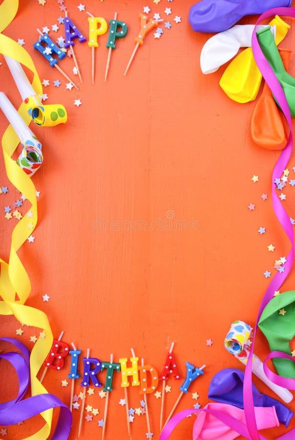 Gelukkige de Decoratieachtergrond van de Verjaardagspartij royalty-vrije stock foto's