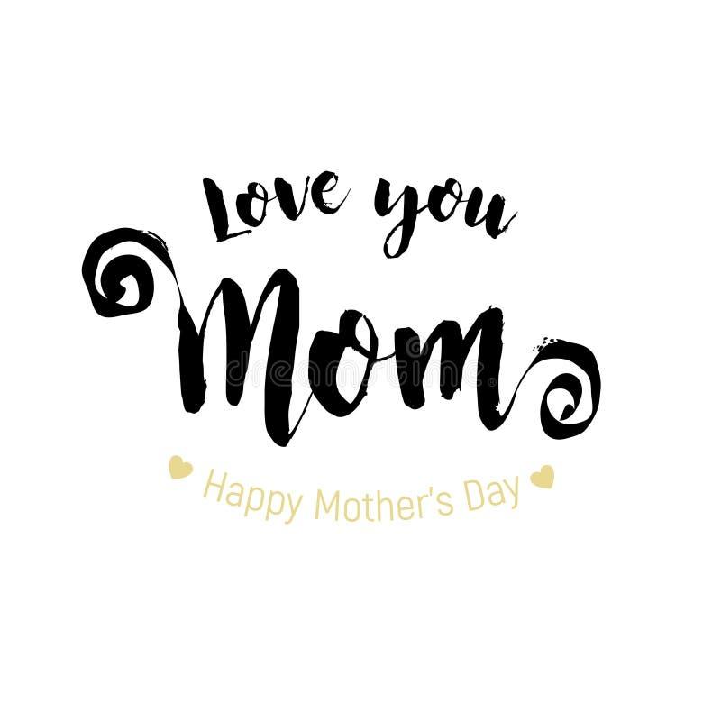 Gelukkige de groetkaart van de Dag van Moeders stock illustratie