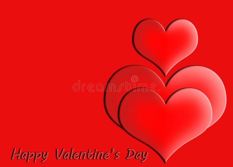 Gelukkige de groetkaart van de valentijnskaart`s dag royalty-vrije stock foto's