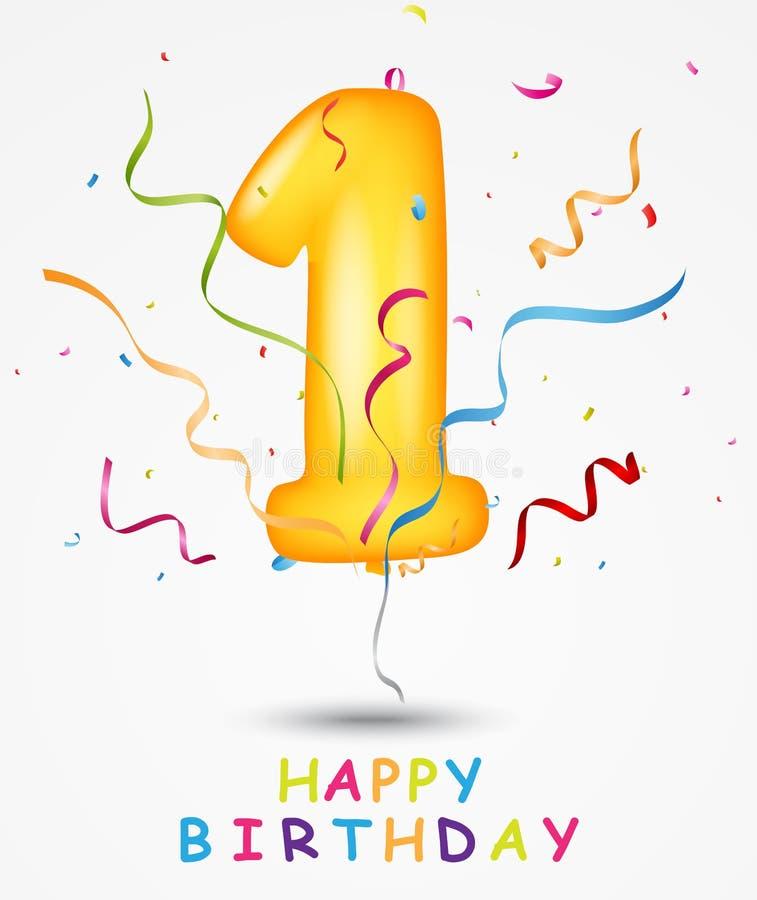 Gelukkige de groetkaart van de Verjaardagsviering vector illustratie