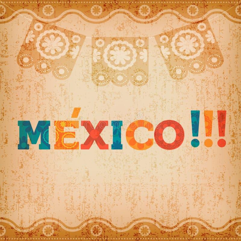 Download Gelukkige De Groetkaart Van Mexico Voor Mexicaanse Vakantie Vector Illustratie - Illustratie bestaande uit vakantie, pret: 114225802