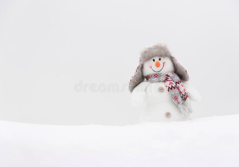Gelukkige de wintersneeuwman stock afbeelding