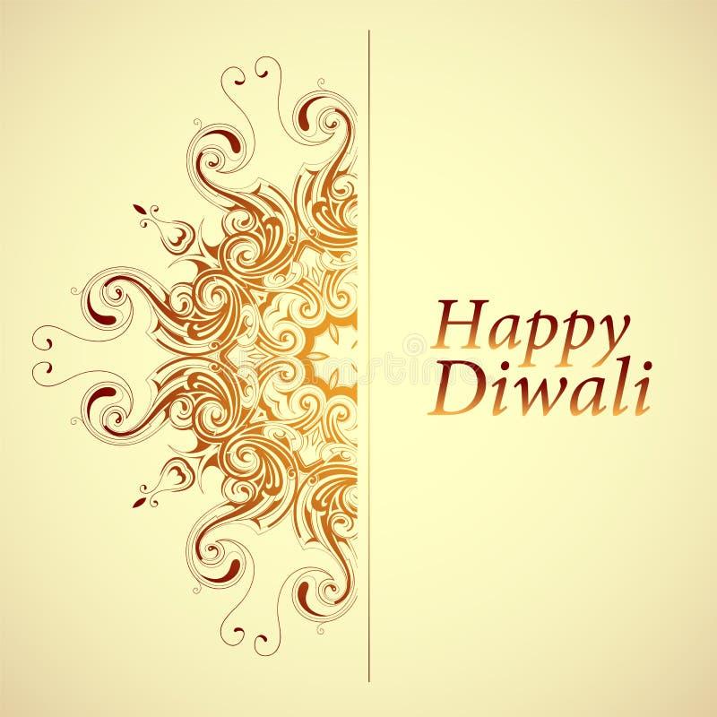 Gelukkige Diwali-Groetkaart royalty-vrije illustratie