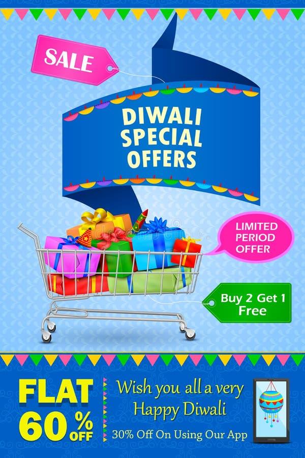 Gelukkige Diwali-vakantieaanbieding stock illustratie