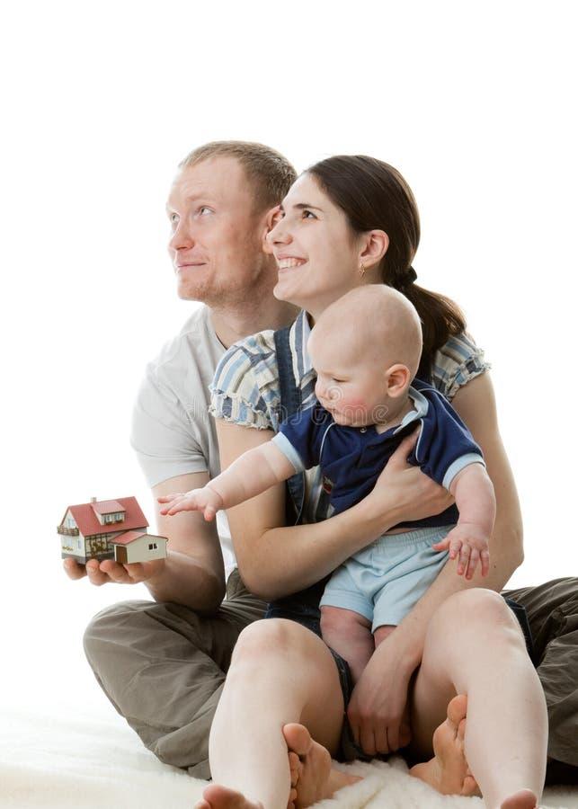 Gelukkige familie. royalty-vrije stock afbeeldingen