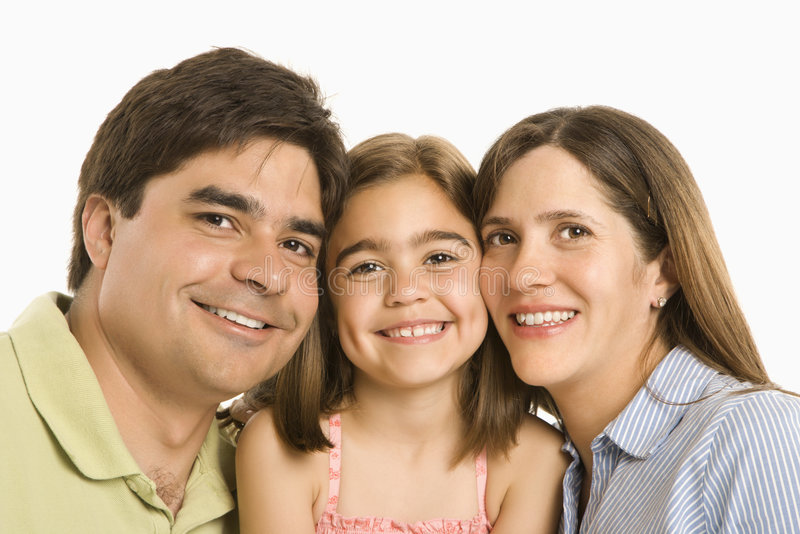 Gelukkige familie. stock afbeeldingen