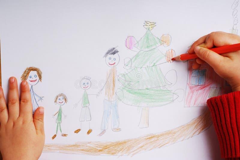 Gelukkige familie in de tijd van Kerstmis royalty-vrije stock afbeeldingen