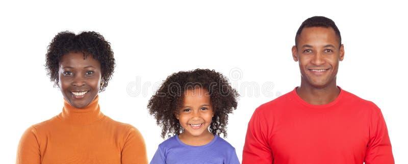 Gelukkige familie met slechts kind stock afbeelding