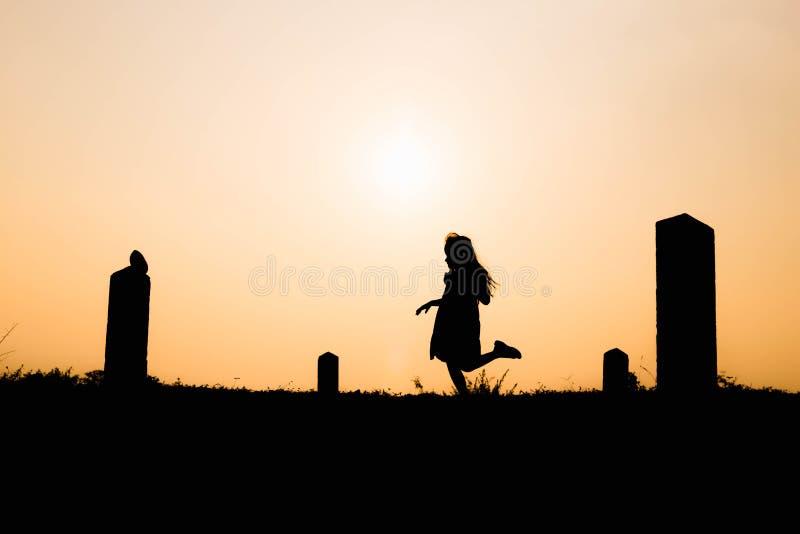 Gelukkige Familie Moeder en zoons het spelen op grasgebieden in openlucht bij avondsilhouet Uitstekende Toon en exemplaarruimte stock foto