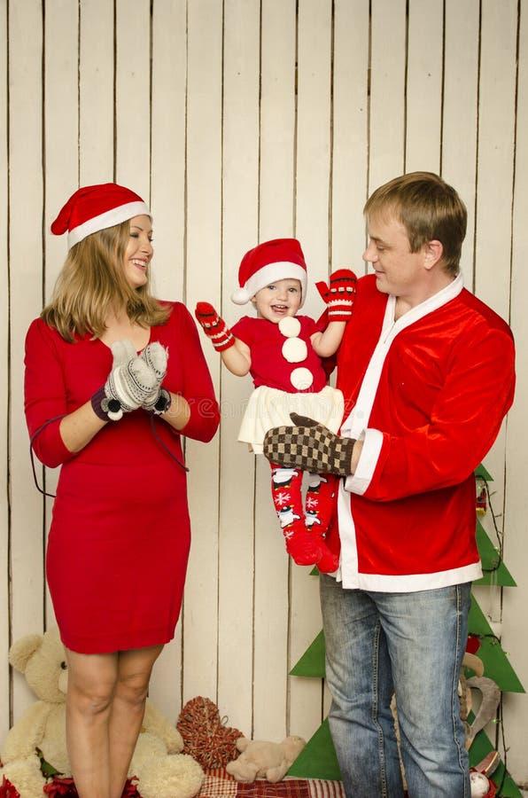 Gelukkige Familie op Kerstmis royalty-vrije stock afbeeldingen