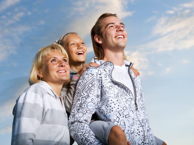 Gelukkige Familie Openlucht stock foto