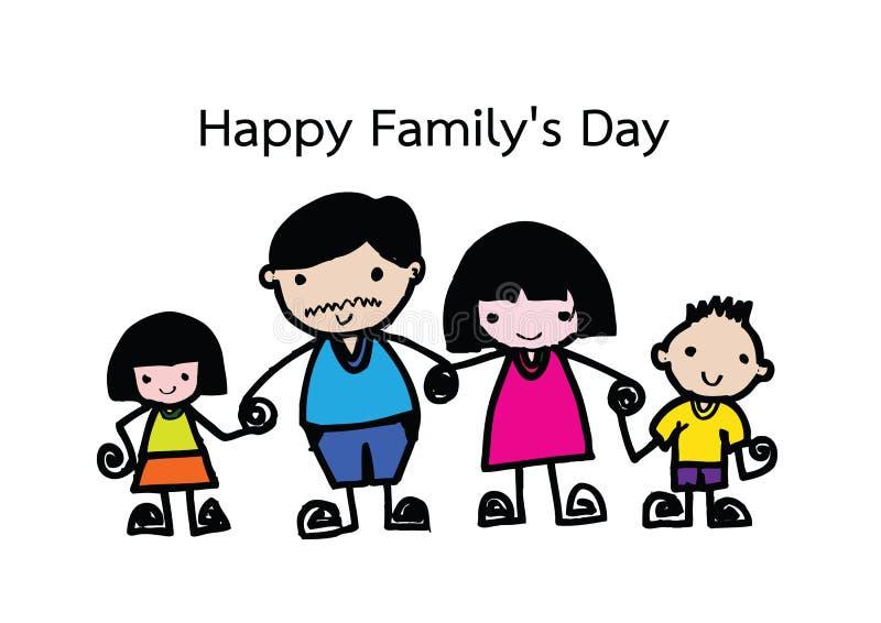 Gelukkige familie 's dag stock illustratie