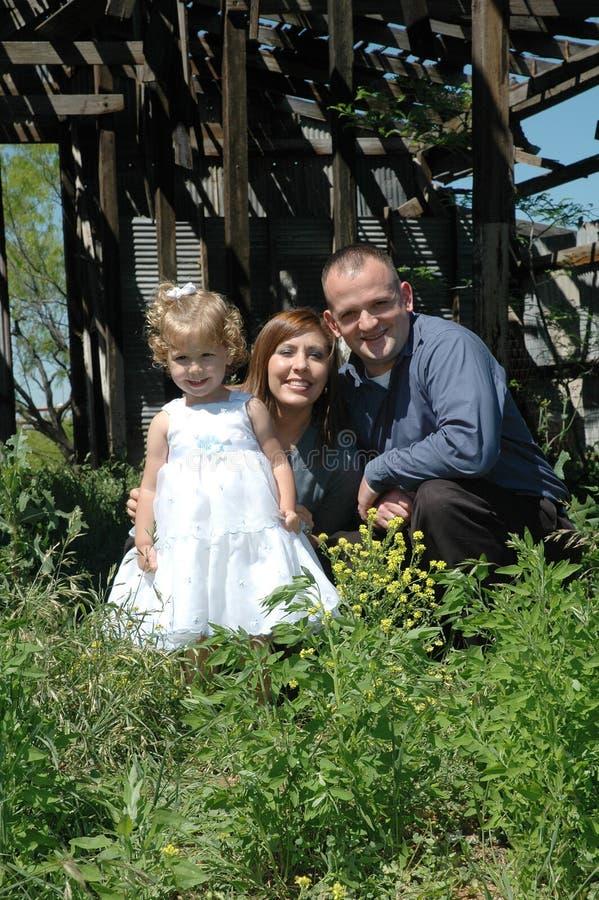 Gelukkige Familie van Drie stock foto