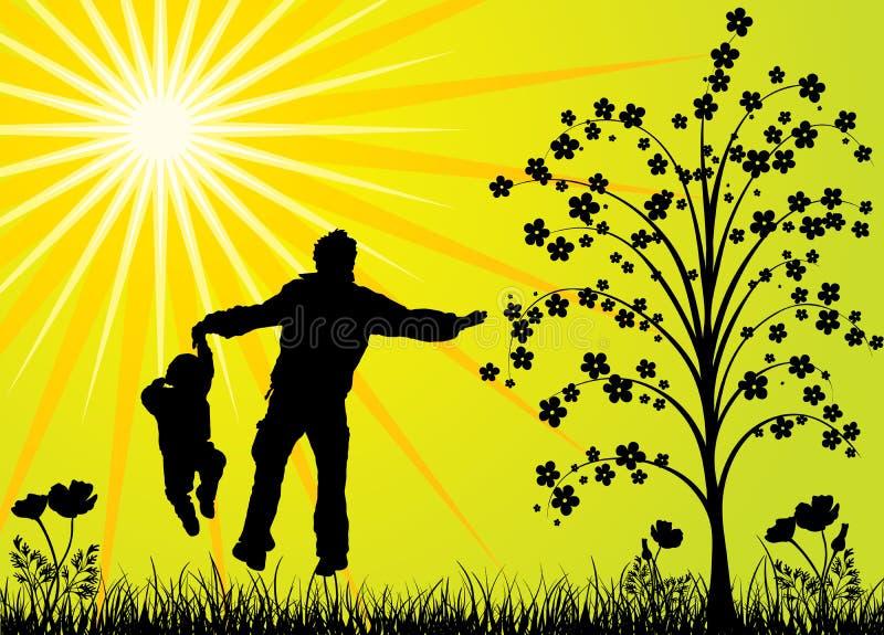 Gelukkige familie, vector royalty-vrije illustratie