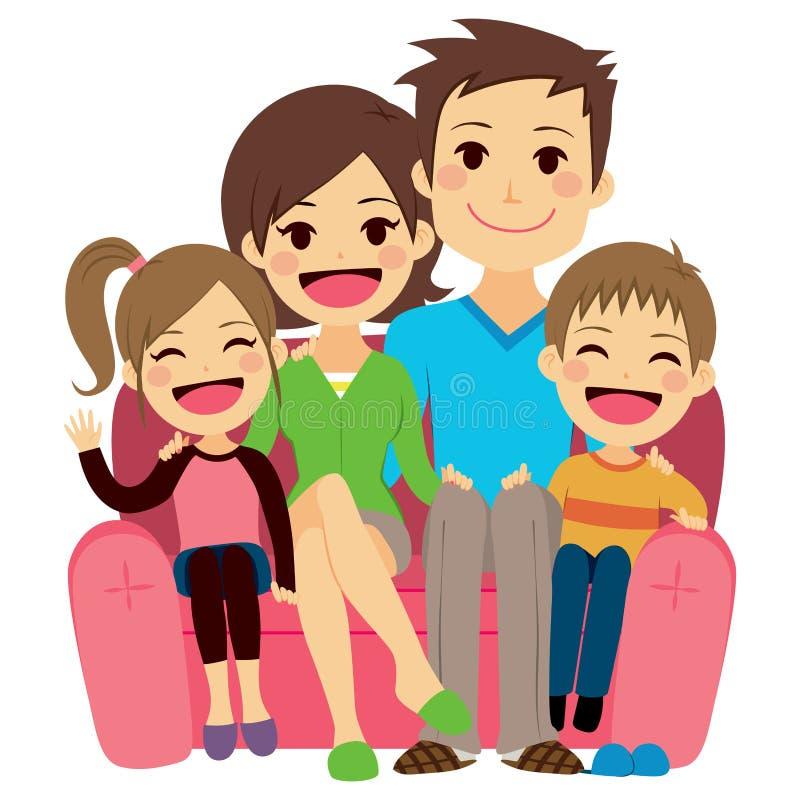 Gelukkige Familiebank vector illustratie