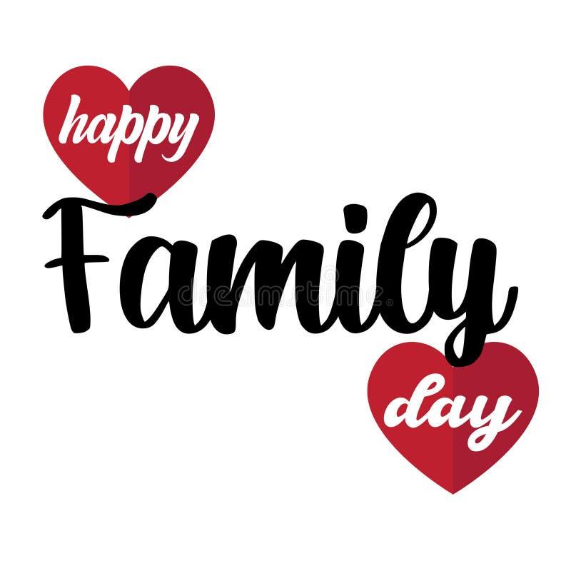 Gelukkige Familiedag! Uitstekende giftkaart Modieuze kalligrafie Vector illustratie op witte achtergrond Elementen voor ontwerp - vector illustratie