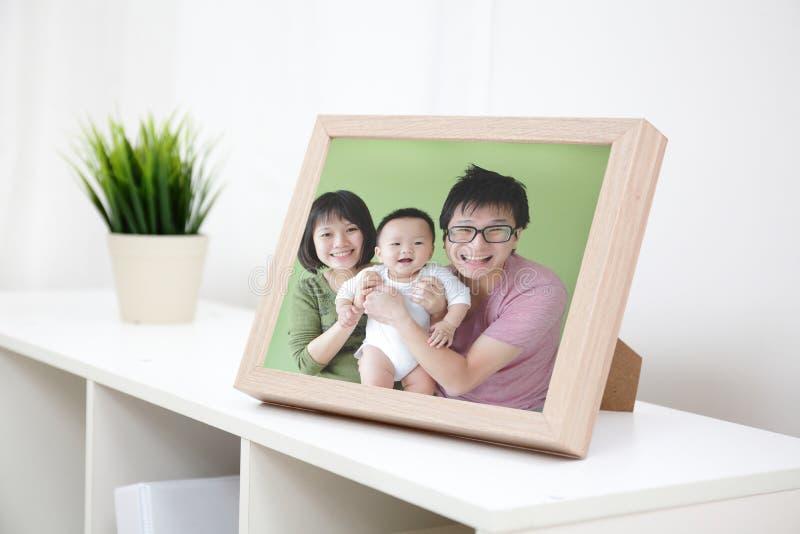 Gelukkige Familiefoto stock afbeeldingen