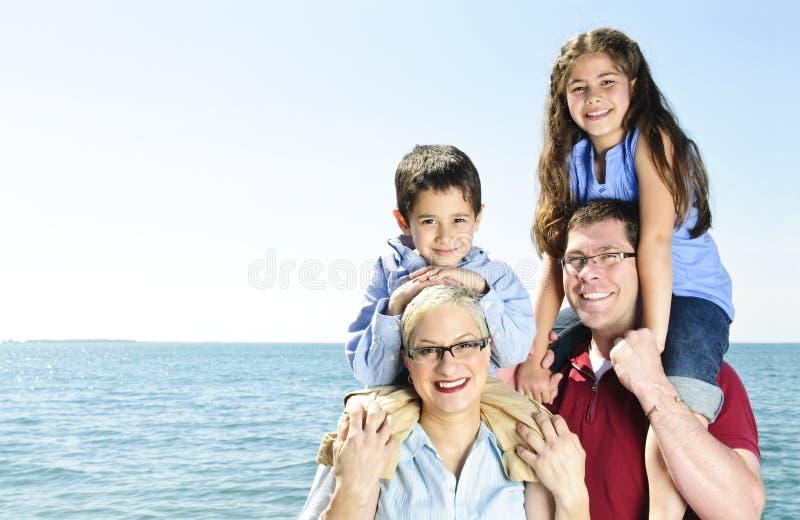 Gelukkige familiepret royalty-vrije stock foto