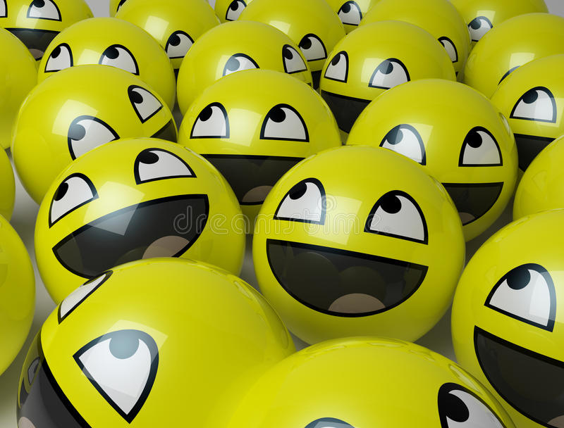 Gelukkige gele gezichten royalty-vrije illustratie
