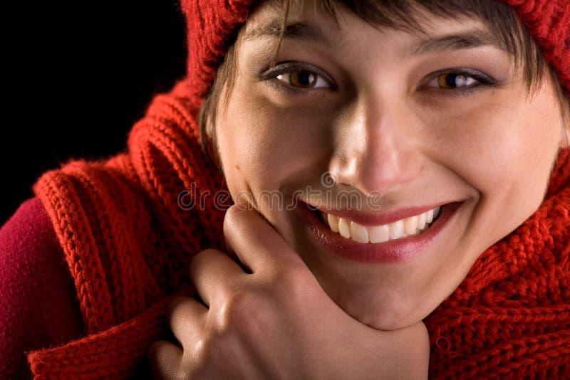 Gelukkige gezichtsuitdrukking - eerlijke glimlach royalty-vrije stock afbeelding