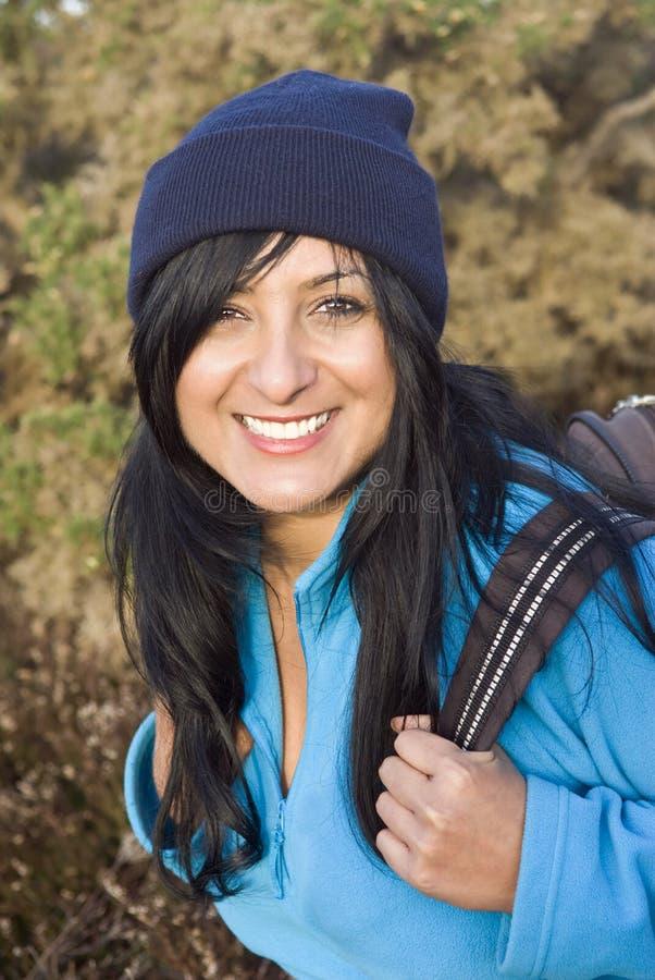 Gelukkige glimlachende Aziatische vrouw stock foto