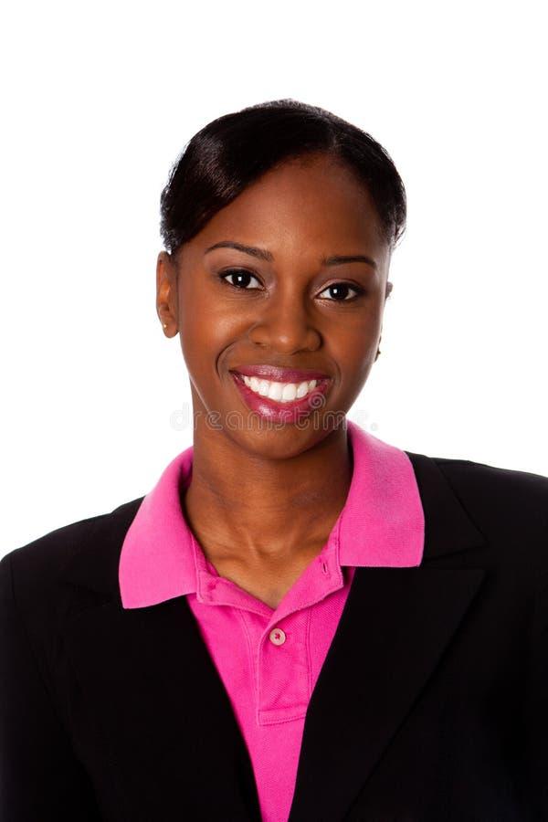 Gelukkige glimlachende bedrijfsvrouw stock fotografie