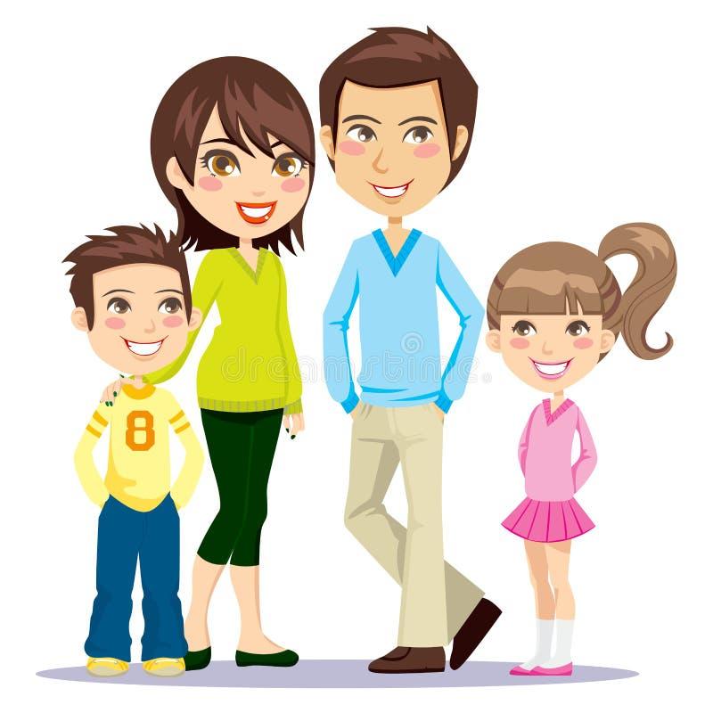 Gelukkige Glimlachende Familie royalty-vrije illustratie