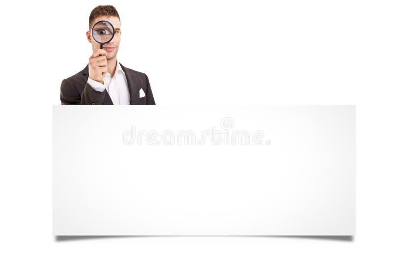 Gelukkige glimlachende jonge bedrijfsmens royalty-vrije stock foto's