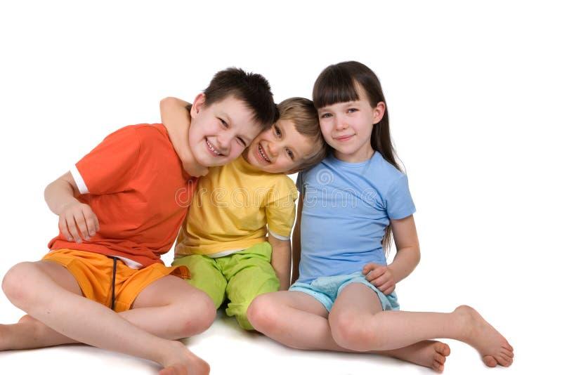 Gelukkige Glimlachende Kinderen stock afbeelding