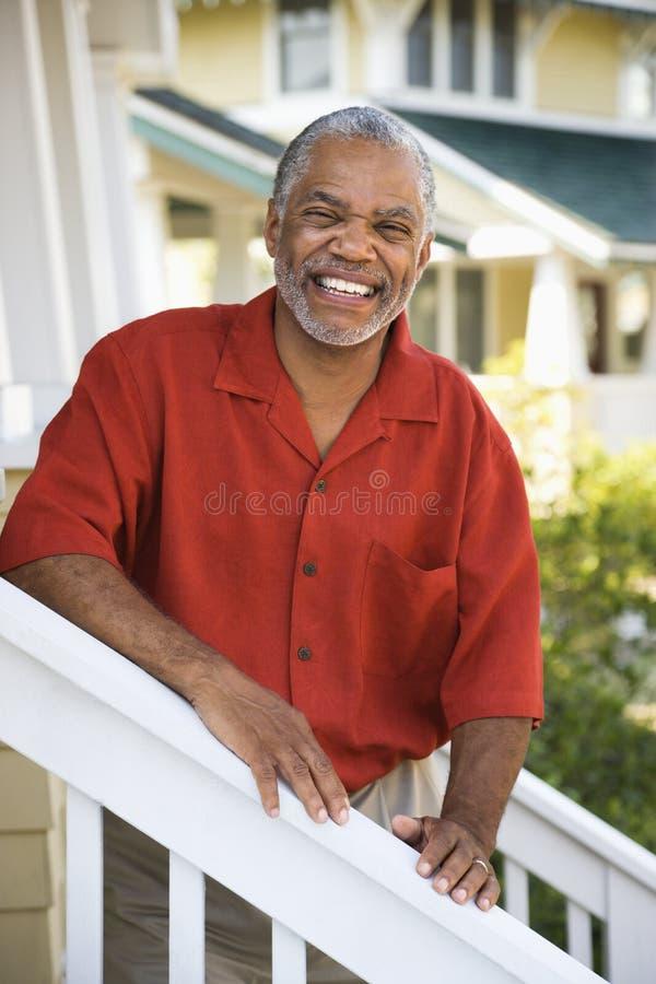 Gelukkige glimlachende mens. royalty-vrije stock afbeeldingen