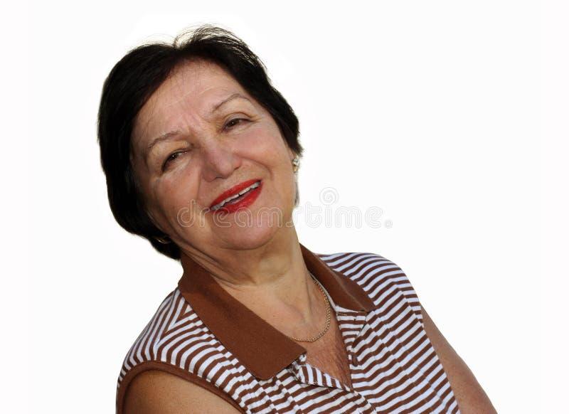 Gelukkige grootmoeder stock afbeelding